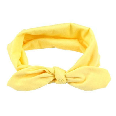 Cute candy colour headband for Baby Girls - yellow