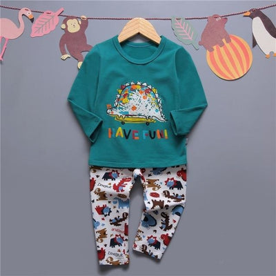 Cute Car clothing set for boys - Deep Green / 18-24 months