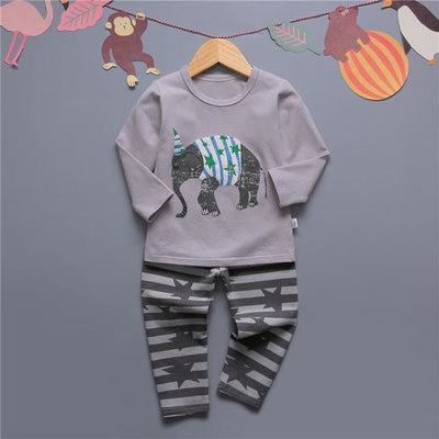 Cute Car clothing set for boys - Gray / 18-24 months