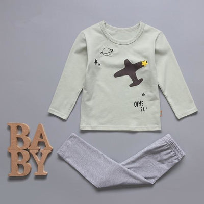 Cute Car clothing set for boys - Pale Green / 18-24 months