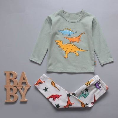 Cute Car clothing set for boys - Pale Green 2 / 18-24 months