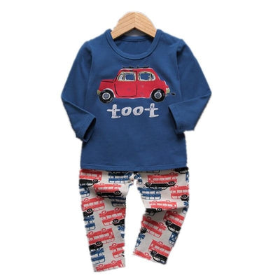 Cute Car clothing set for boys
