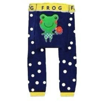 Cute Cartoon Animal Pattern Leggings Girls - Frog / 6-9 months