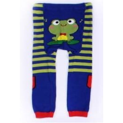 Cute Cartoon Animal Pattern Leggings Girls - Frog Green / 6-9 months