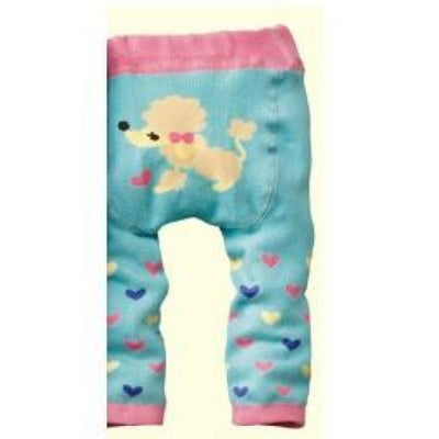 Cute Cartoon Animal Pattern Leggings Girls - Light Blue / 6-9 months