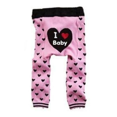 Cute Cartoon Animal Pattern Leggings Girls - Light Pink / 6-9 months