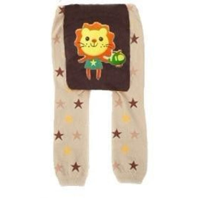 Cute Cartoon Animal Pattern Leggings Girls - Lion / 6-9 months