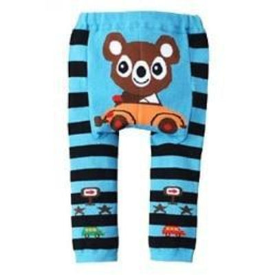 Cute Cartoon Animal Pattern Leggings Girls - Mouse / 6-9 months