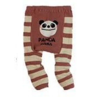 Cute Cartoon Animal Pattern Leggings Girls - Panda Stripe / 6-9 months