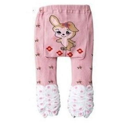 Cute Cartoon Animal Pattern Leggings Girls - Pink 3 / 6-9 months