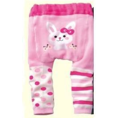 Cute Cartoon Animal Pattern Leggings Girls - Pink / 6-9 months