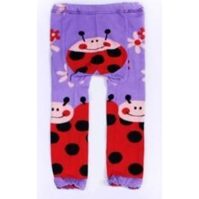 Cute Cartoon Animal Pattern Leggings Girls - Purple / 6-9 months