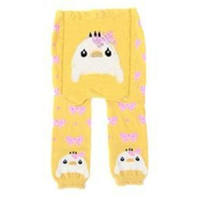 Cute Cartoon Animal Pattern Leggings Girls - Yellow / 6-9 months