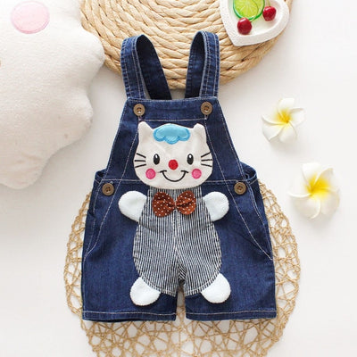 Cute Cartoon Cat Jumpsuit for Kids Unisex