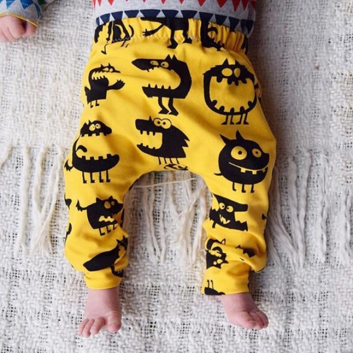 Cute Cartoon Print Harem Pants for Babies