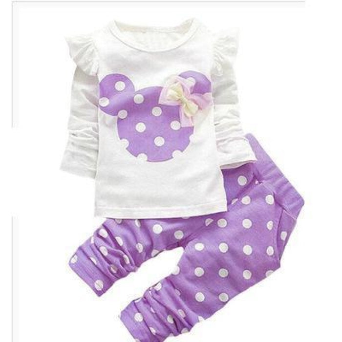 Cute Cartoon Style Clothing Set Baby Girl