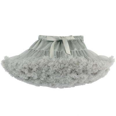 Cute Fluffy Ballerina Skirt for Girls - gray / 18-24 months