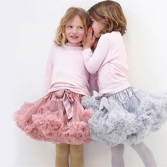 Cute Fluffy Ballerina Skirt for Girls