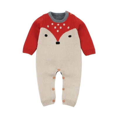 Cute Knitted Winter Jumpsuit for Babies Unisex