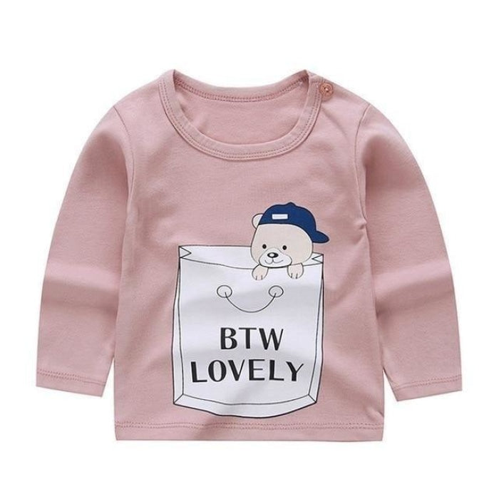 Cute Long sleeve Unisex T-shirt for Babies - Lavender / 6-9 months