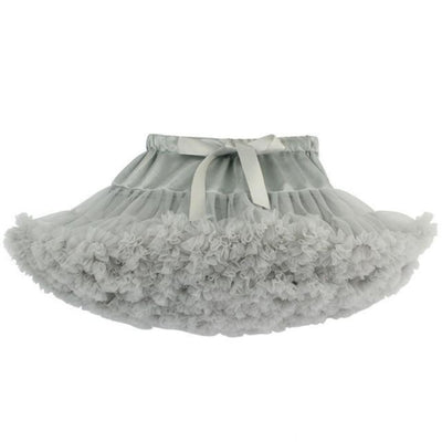 Cute Ruffle Ball gown Skirt for Girls - Gray color / 5-6 years