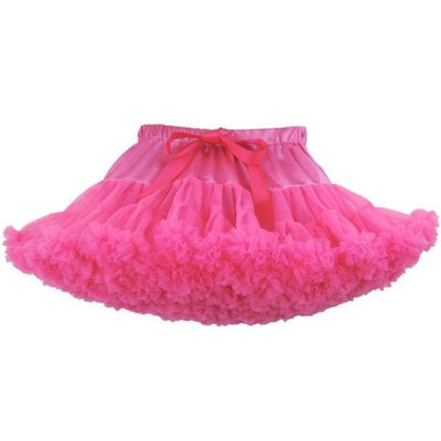 Cute Ruffle Ball gown Skirt for Girls - Hot pink / 5-6 years