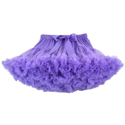 Cute Ruffle Ball gown Skirt for Girls - light purple / 5-6 years