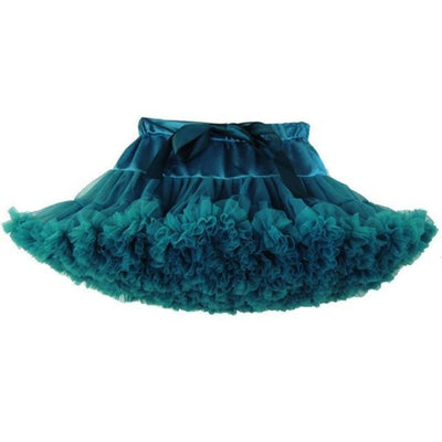Cute Ruffle Ball gown Skirt for Girls - Teal / 5-6 years