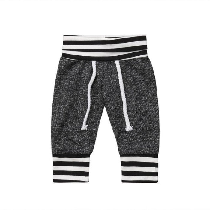 Cute Striped Drawstring Unisex Pants for Kids