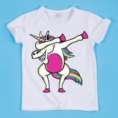 Dancing Funny Unicorn T-shirt Kids Unisex - As per pic / 2-3 years