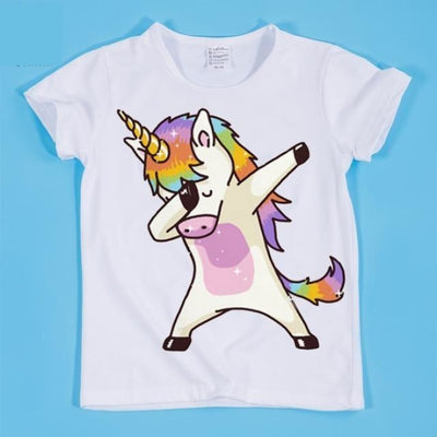 Dancing Funny Unicorn T-shirt Kids Unisex - HKP2197A / 2-3 years