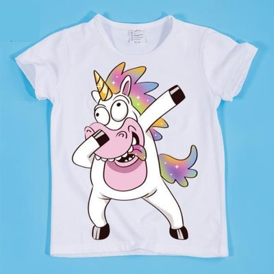 Dancing Funny Unicorn T-shirt Kids Unisex - HKP2197C / 2-3 years