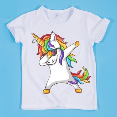 Dancing Funny Unicorn T-shirt Kids Unisex - HKP2197D / 2-3 years