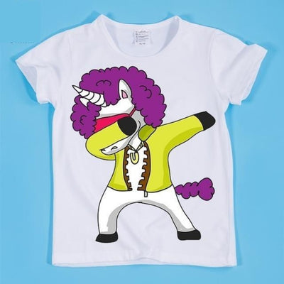 Dancing Funny Unicorn T-shirt Kids Unisex - HKP2197E / 2-3 years