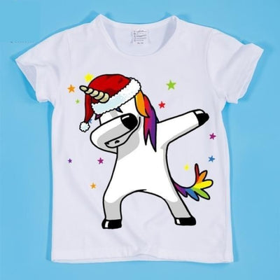 Dancing Funny Unicorn T-shirt Kids Unisex - HKP2197F / 2-3 years