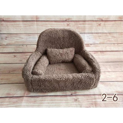 Decorative Sofa Photo Props for Baby Unisex - Coffee-6S