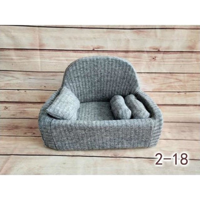 Decorative Sofa Photo Props for Baby Unisex - Gray-18S