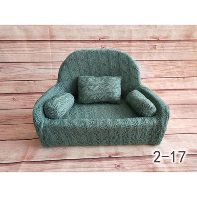 Decorative Sofa Photo Props for Baby Unisex - Green-17S