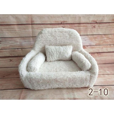 Decorative Sofa Photo Props for Baby Unisex - White-10S