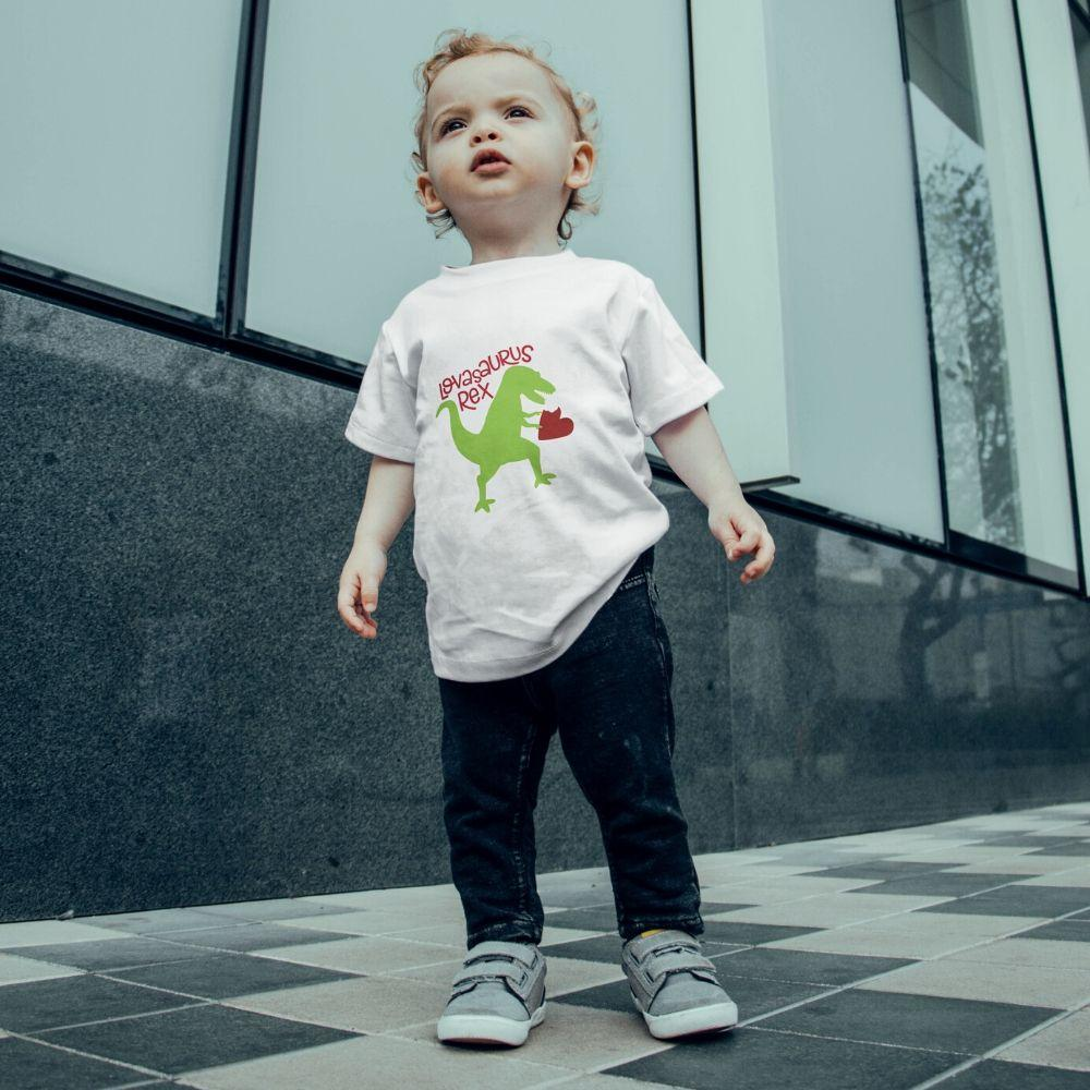 Dinosaur Valentine T Shirt for Toddler Boys