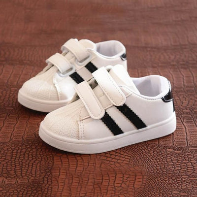 Dual Strap Breathable Sneakers for Kids Unisex - black / 11
