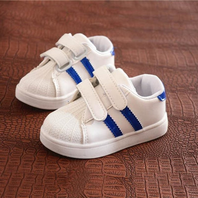 Dual Strap Breathable Sneakers for Kids Unisex - blue / 11