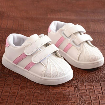 Dual Strap Breathable Sneakers for Kids Unisex - pink / 11