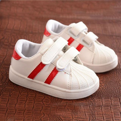Dual Strap Breathable Sneakers for Kids Unisex - red / 11