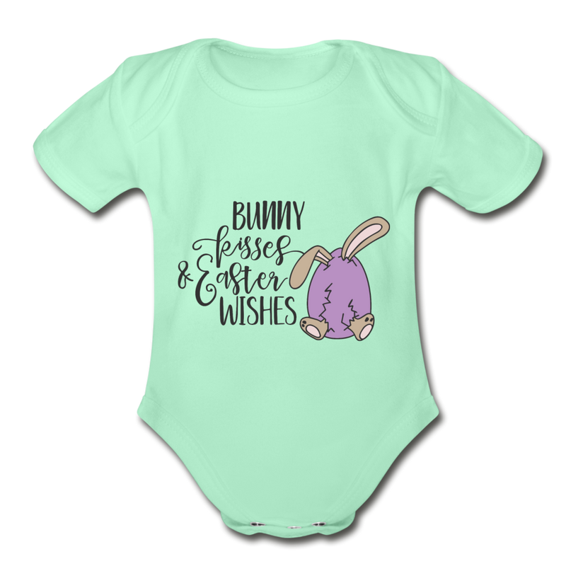 Easter Bunny Wishes Baby Onesie Unisex - white