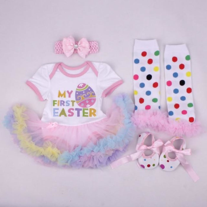 Easter Special Tutu Skirt 4Pc Set for Baby Girl