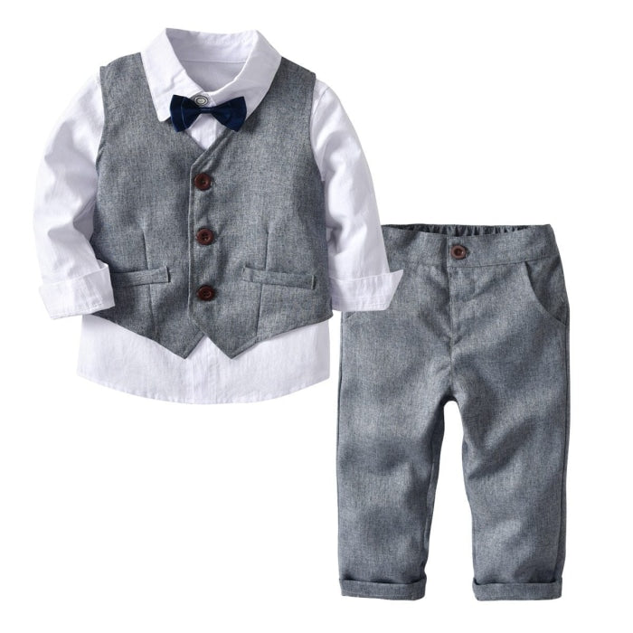 Elegant Grey Suit set for boys