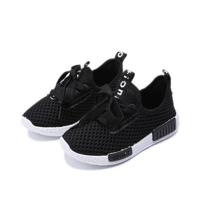 Everyday Wear Sneaker Mesh Shoes Kids Unisex - Black / 8.5