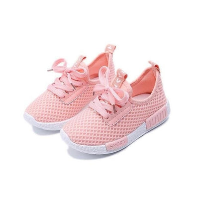 Everyday Wear Sneaker Mesh Shoes Kids Unisex - Pink / 8.5