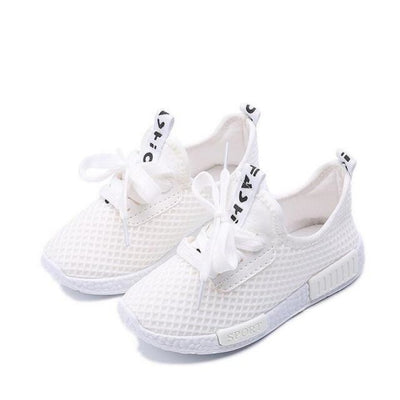 Everyday Wear Sneaker Mesh Shoes Kids Unisex - White / 8.5